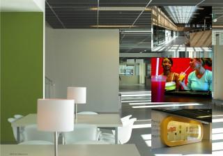 Interieur Stenden Hogeschool Leeuwarden 2001 – 2004